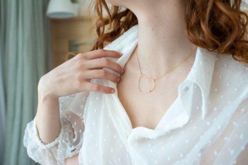 maison em bijoux collier heart